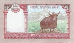 Nepal P.76  5 Rupees 2017  Unc - Nepal