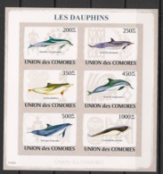 Comores - 2009 - N°Yv. 1459 à 1464 - Dauphins - Non Dentelé / Imperf. - Neuf Luxe ** / MNH / Postfrisch - Dauphins