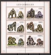 Comores - 2009 - N°Yv. 1471 à 1476 - Gorilles - Neuf Luxe ** / MNH / Postfrisch - Gorilles
