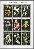 St Vincent - Fleurs, Orchidées - Feuillet 9 Val Neufs // Mnh - St.Vincent & Grenadines