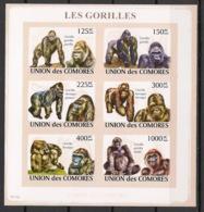 Comores - 2009 - N°Yv. 1471 à 1476 - Gorilles - Non Dentelé / Imperf. - Neuf Luxe ** / MNH / Postfrisch - Gorilles