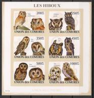 Comores - 2009 - N°Yv. 1477 à 1482 - Hiboux - Non Dentelé / Imperf. - Neuf Luxe ** / MNH / Postfrisch - Hiboux & Chouettes