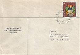 "Motiv Brief  ""Elektrizitätswerk Guntershausen Bei Aadorf""          1981 - Storia Postale"
