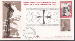 VATICANO BUSTA KIM COVER 1967 GIORNATA DELLE COMUNICAZIONI SOCIALI. - Vatican