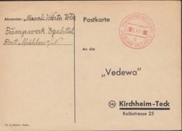 FrZone PK Mit Stempel: Gebühr Bezahlt (MiNr. C1h) Horb 2.6.1947 - Zona Francese