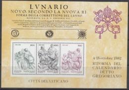 VATIKAN  Block 4, Postfrisch **, 400 Jahre Gregorianischer Kalender 1982 - Blocks & Kleinbögen