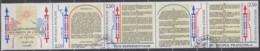 FRANKREICH 2735-2738, Fünferstreifen, Gestempelt, 200. Jahrestag Der Verkündung Der Menschen- Und Bürgerrechte, 1989 - France
