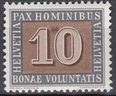 """SCHWEIZ  448 VI, Postfrisch **, Farbfleck Zwischen """"1"""" Und """"0"""", PAX 1945 - Variétés"""