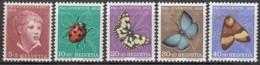 SCHWEIZ 575-579, Postfrisch **, Pro Juventute: Insekten 1952 - Pro Juventute