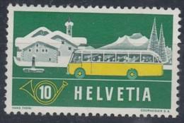 """SCHWEIZ 586 I """"blinder Passagier"""", Postfrisch **, Alpenpost 1953 - Variétés"""