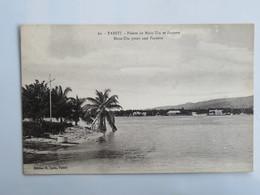 C.P.A. : TAHITI : Pointe De Moru Uta Et Papeete - Tahiti