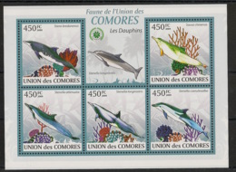 Comores - 2009 - N°Yv. 1656 à 1660 - Dauphins - Neuf Luxe ** / MNH / Postfrisch - Dauphins