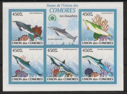 Comores - 2009 - N°Yv. 1656 à 1660 - Dauphins - Non Dentelé / Imperf. - Neuf Luxe ** / MNH / Postfrisch - Dauphins