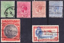 Bahamas 1921-1935 Lot 3, Issues Under King George V., Wmk. Crown Script CA, Used O - Bahamas (...-1973)