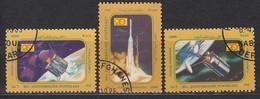 AFGHANISTAN 1985 - MiNr. 1392-1394  Komplett - Raumfahrt