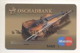 Credit Card Music Violin Bankcard Oschadbank Bank UKRAINE Maestro Expired - Tarjetas De Crédito (caducidad Min 10 Años)