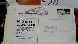 CESANO MADERNO DITTA MOBILI MOBILIFICIO LANZANI E BUSTA 50 LIRE CAP VB1969 HB9258 - Milano (Milan)
