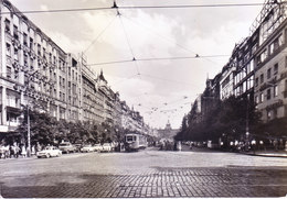 CZECHOSLOVAKIA : ORIGINAL PHOTO PICTURE POST CARD : POSTED FOR GERMANY : YEAR : 1965 : WENCESLAS SQUARE, PLACE VENCESLAS - Czechoslovakia