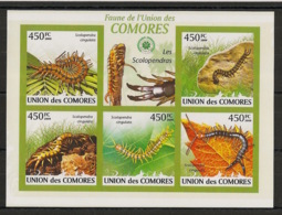 Comores - 2009 - N°Yv. 1746 à 1750 - Scolopendre - Non Dentelé / Imperf. - Neuf Luxe ** / MNH / Postfrisch - Insectes