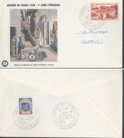 """ALGERIA 1958 - BUSTA FDC """"GIORNATA DEL FRANCOBOLLO"""". - Altri - Africa"""