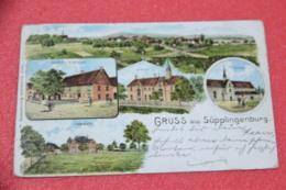 Niedersachsen Supplingenburg Gruss Gasthof Uetzfeld Und Schule 1901 - Allemagne