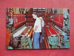 Female Working At Jacquard Looms Pendleton Woolen Mills Pendleton Oregon Ref 3295 - Industry
