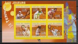 Comores - 2010 - N°Yv. 2035 à 2040 - Tennis - Non Dentelé / Imperf. - Neuf Luxe ** / MNH / Postfrisch - Tennis