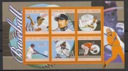 Comores - 2010 - N°Yv. 2053 à 2058 - Base-Ball - Neuf Luxe ** / MNH / Postfrisch - Baseball