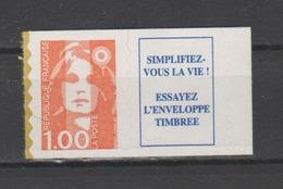 FRANCE / 1996 / Y&T N° 3009a ** Ou AA 8a ** : Briat 1F Orange (adhésif En Dents De Scie + Vignette) - Etat D'origine - Francia