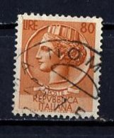Italie - Italy - Italien 1953 Y&T N°655 - Michel N°891 (o) - 80l Monnaie Syracusaine - 6. 1946-.. Repubblica