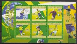 Comores - 2010 - N°Yv. 2101 à 2106 - Joueurs Brésiliens - Neuf Luxe ** / MNH / Postfrisch - Football