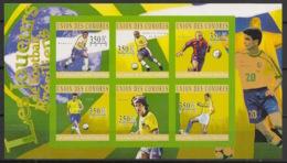 Comores - 2010 - N°Yv. 2101 à 2106 - Joueurs Brésiliens - Non Dentelé / Imperf. - Neuf Luxe ** / MNH / Postfrisch - Football