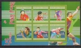 Comores - 2010 - N°Yv. 2107 à 2112 - Ping-Pong - Neuf Luxe ** / MNH / Postfrisch - Tennis De Table