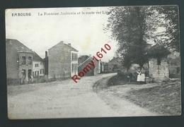 Embourg - La Fontaine Ambiorix Et La Route Vers Liège. Petite Animation - Chaudfontaine