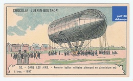 Jolie Chromo Paris Guérin Boutron Dans Les Airs Thème Aviation Avion Ballon Dirigeable 52 Militaire Aluminium A6-87 - Guérin-Boutron
