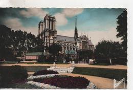 CPA.75.Notre Dame De Paris.Vue Des Jardins. - Notre Dame De Paris