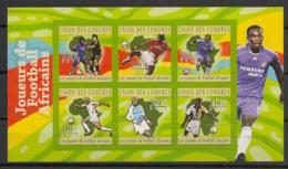 Comores - 2010 - N°Yv. 2119 à 2124 - Joueurs Africains - Non Dentelé / Imperf. - Neuf Luxe ** / MNH / Postfrisch - Calcio