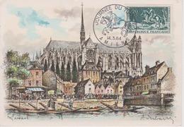 Lot 1 Carte Et Une Enveloppe Journée Du Timbre Amiens 1964 - FDC