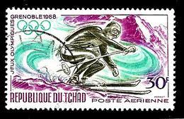 TCHAD Aer44° 30f Lilas, émeraude Et Olive Jeux Olympique D'hiver à Grenoble (10% De La Cote + 0,15) - Tschad (1960-...)