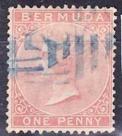 Bermuda 1865 QV Definitive Wmk Crown CC Mi 1Ab Used O - Bermudes