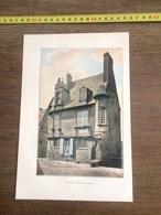 1901 LE MANS MAISON DU GRABATOIRE CATHEDRALE - Alte Papiere