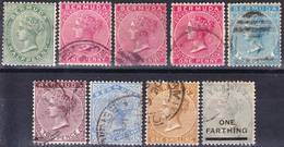 Bermuda 1883-1901 QV Issues Wmk Crown CA Mi 13-17, 19-20, Used O - Bermudes