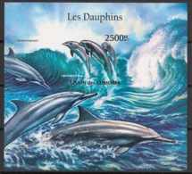 Comores - 2011 - Bloc BF N°Yv. 302 - Dauphins - Non Dentelé / Imperf. - Neuf Luxe ** / MNH / Postfrisch - Dauphins