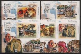 Comores - 2011 - KLB N°Yv. 2165 à 2069 - Fauves - Non Dentelé / Imperf. - Neuf Luxe ** / MNH / Postfrisch - Félins