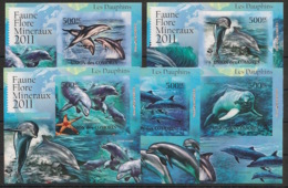Comores - 2011 - KLB N°Yv. 2170 à 2174 - Dauphins - Non Dentelé / Imperf. - Neuf Luxe ** / MNH / Postfrisch - Dauphins