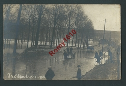 Inghioul (Engihoul) - Superbe PHOTO Animée, Attelage, Inondations Janvier 1920 - Engis