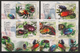 Comores - 2011 - KLB N°Yv. 2190 à 2194 - Coléoptères - Neuf Luxe ** / MNH / Postfrisch - Insectes