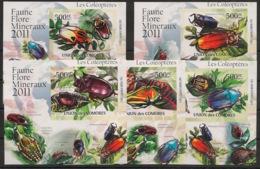 Comores - 2011 - KLB N°Yv. 2190 à 2194 - Coléoptères - Non Dentelé / Imperf. - Neuf Luxe ** / MNH / Postfrisch - Insectes
