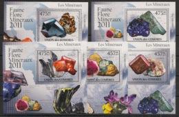Comores - 2011 - KLB N°Yv. 2195 à 2200 - Minéraux - Neuf Luxe ** / MNH / Postfrisch - Minerali