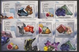 Comores - 2011 - KLB N°Yv. 2195 à 2200 - Minéraux - Non Dentelé / Imperf. - Neuf Luxe ** / MNH / Postfrisch - Minerali
